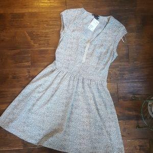 H&M zip front dress